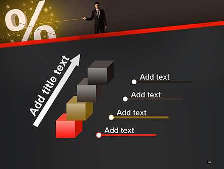 Businessman Pulling Percent Sign PowerPoint Template Slide 14