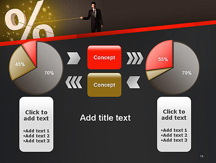 Businessman Pulling Percent Sign PowerPoint Template Slide 16