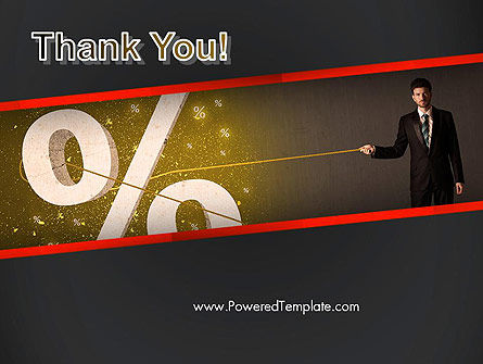 Businessman Pulling Percent Sign PowerPoint Template Slide 20