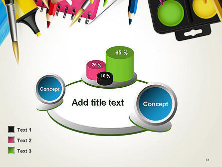 School Background with School Supplies PowerPoint Template Slide 13