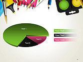 School Background with School Supplies PowerPoint Template#14