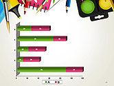 School Background with School Supplies PowerPoint Template#17