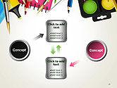 School Background with School Supplies PowerPoint Template#19