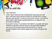 School Background with School Supplies PowerPoint Template#2