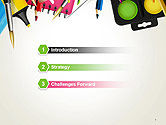 School Background with School Supplies PowerPoint Template#3