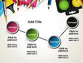 School Background with School Supplies PowerPoint Template#6