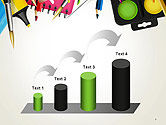 School Background with School Supplies PowerPoint Template#7