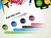 School Background with School Supplies PowerPoint Template#9