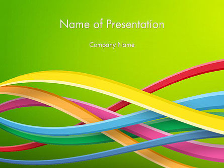 Abstract/Textures: Colorful Waves Abstract PowerPoint Template #14214