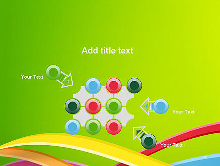 Colorful Waves Abstract PowerPoint Template Slide 10