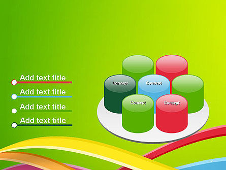 Colorful Waves Abstract PowerPoint Template Slide 12