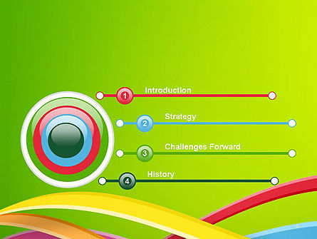 Colorful Waves Abstract PowerPoint Template Slide 3