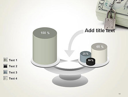 Dollar Banknotes Secured with Lock PowerPoint Template Slide 10