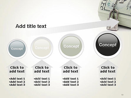 Dollar Banknotes Secured with Lock PowerPoint Template Slide 13