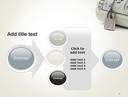 Dollar Banknotes Secured with Lock PowerPoint Template Slide 17