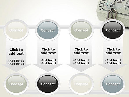 Dollar Banknotes Secured with Lock PowerPoint Template Slide 18