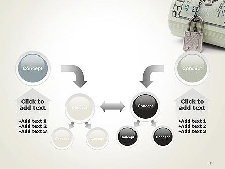 Dollar Banknotes Secured with Lock PowerPoint Template Slide 19