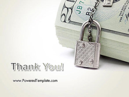 Dollar Banknotes Secured with Lock PowerPoint Template Slide 20