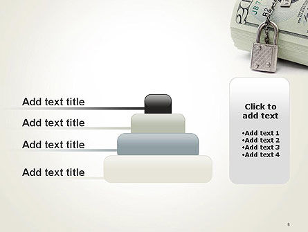 Dollar Banknotes Secured with Lock PowerPoint Template Slide 8