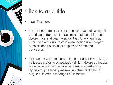 Architect Desktop Top View PowerPoint Template, Slide 3, 14216, Construction — PoweredTemplate.com