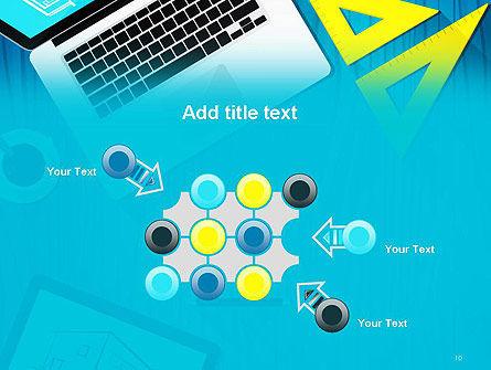 Architect Desktop Top View PowerPoint Template Slide 10