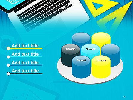 Architect Desktop Top View PowerPoint Template Slide 12