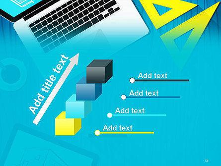 Architect Desktop Top View PowerPoint Template Slide 14
