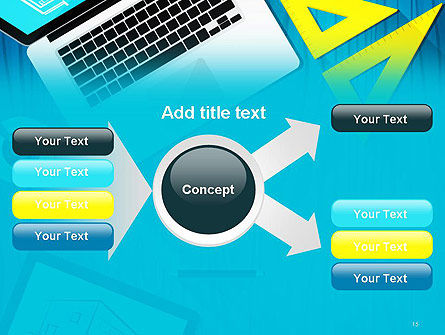 Architect Desktop Top View PowerPoint Template Slide 15