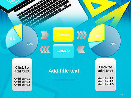 Architect Desktop Top View PowerPoint Template Slide 16