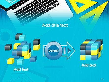 Architect Desktop Top View PowerPoint Template Slide 17