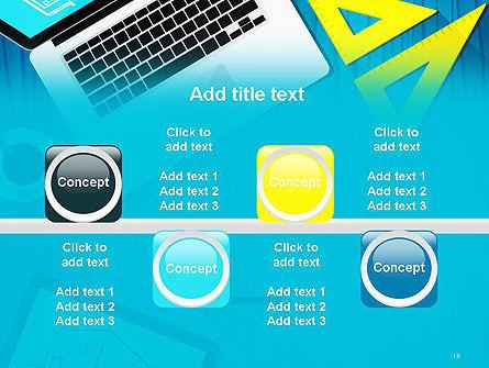 Architect Desktop Top View PowerPoint Template Slide 18