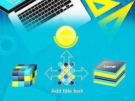 Architect Desktop Top View PowerPoint Template Slide 19