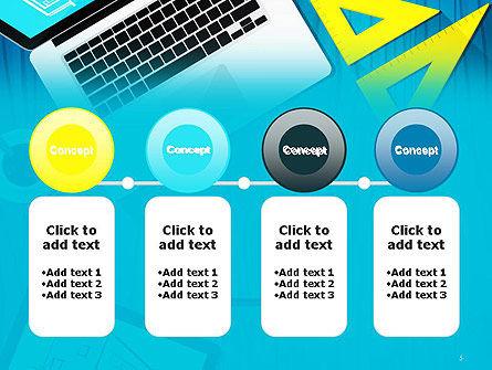 Architect Desktop Top View PowerPoint Template Slide 5