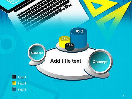 Architect Desktop Top View PowerPoint Template Slide 6