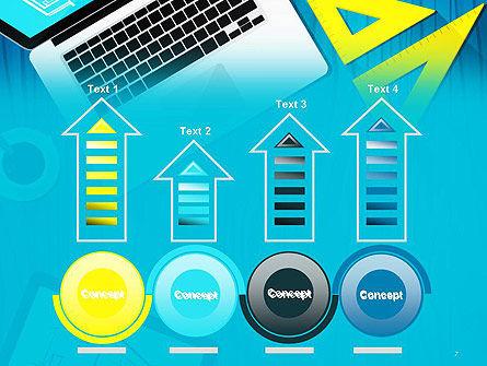 Architect Desktop Top View PowerPoint Template Slide 7