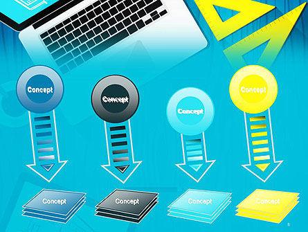 Architect Desktop Top View PowerPoint Template Slide 8