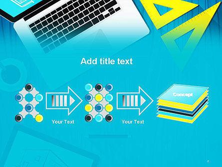 Architect Desktop Top View PowerPoint Template Slide 9