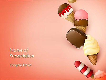 Ice Cream Madness PowerPoint Template