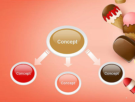 Ice Cream Madness PowerPoint Template Slide 4