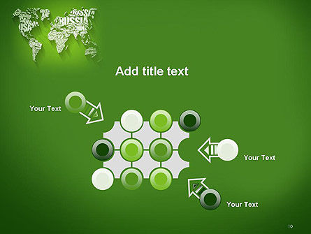 World Map in Word Cloud PowerPoint Template Slide 10