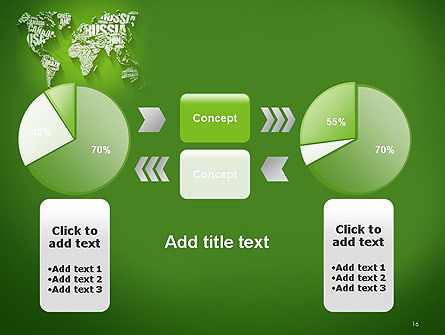 World Map in Word Cloud PowerPoint Template Slide 16