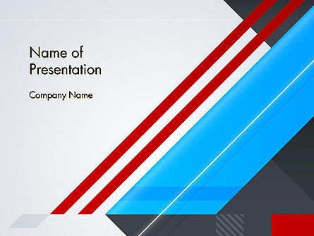 Diagonal Lines Geometrical Abstraction PowerPoint Template