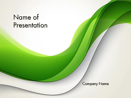 Abstract Elegant Waves PowerPoint Template