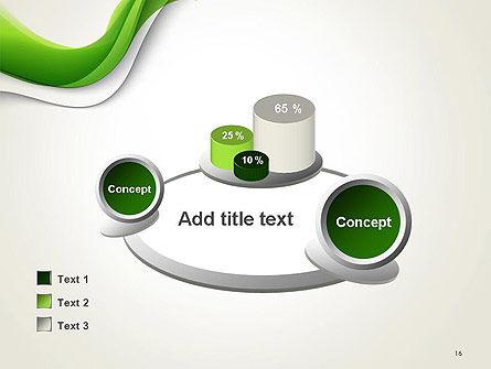 Abstract Elegant Waves PowerPoint Template Slide 16