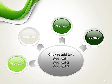 Abstract Elegant Waves PowerPoint Template Slide 7