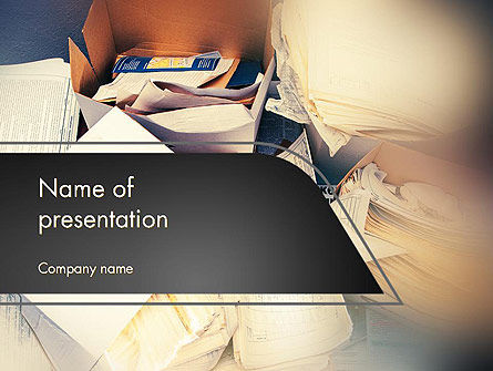 Records Management PowerPoint Template, 14221, Careers/Industry — PoweredTemplate.com