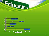 Education Just Ahead Green Road Sign PowerPoint Template#11