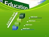 Education Just Ahead Green Road Sign PowerPoint Template#14