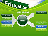 Education Just Ahead Green Road Sign PowerPoint Template#15
