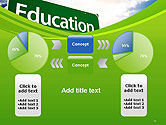Education Just Ahead Green Road Sign PowerPoint Template#16